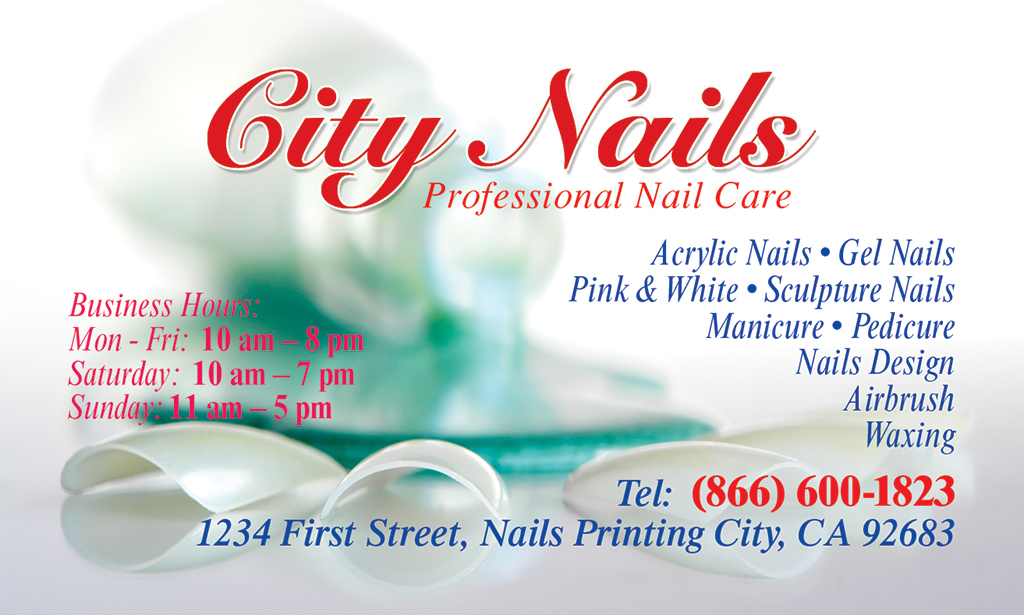 Business Card (Front) | Nails Printing – (866) 600-1823