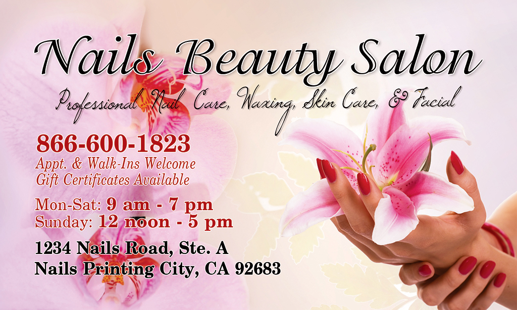 Business Card (Front) | Nails Printing – (866) 600-1823 | Page 4