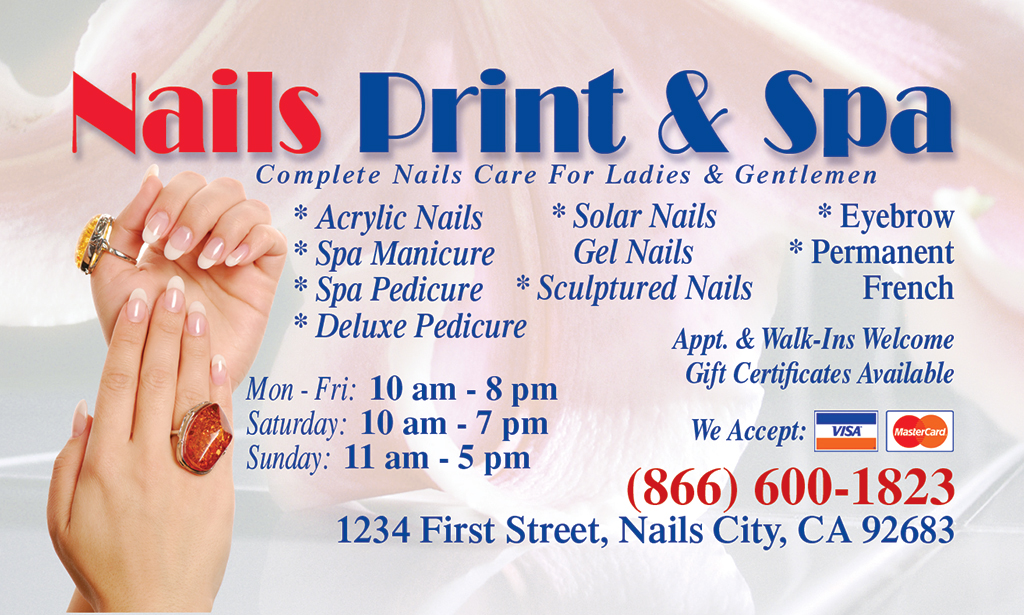 Business card front nails printing 866 600 1823 bc 0006 front reheart Images