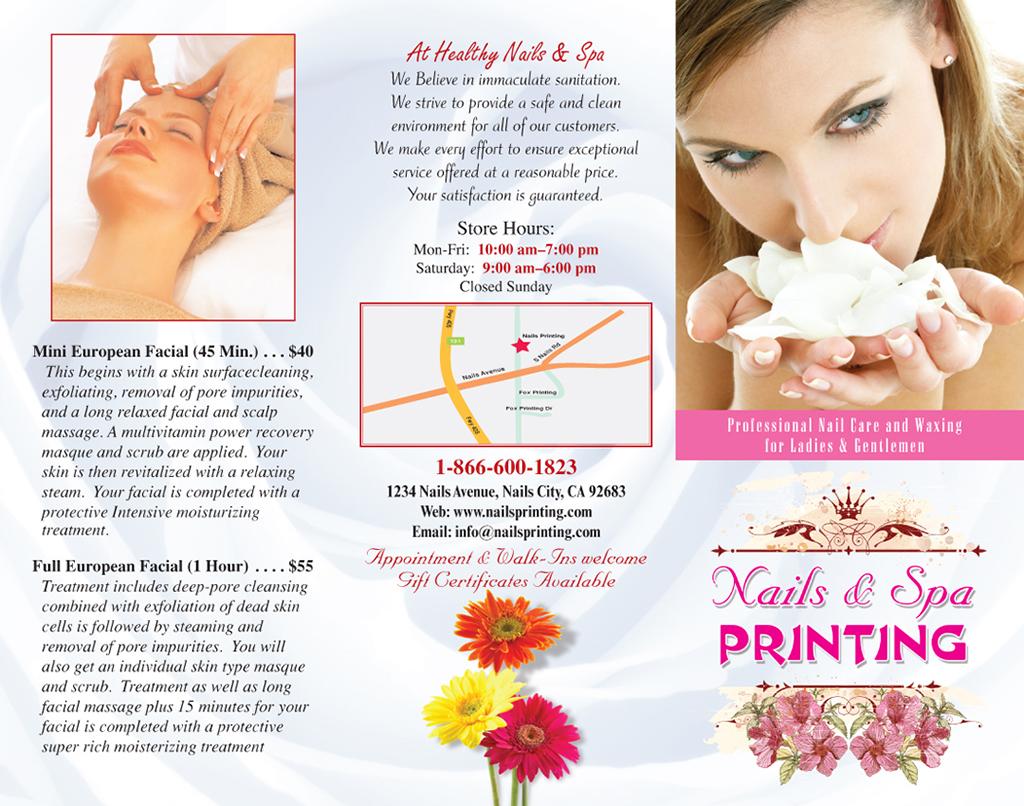 Brochures   Nails Printing – (866) 600-1823