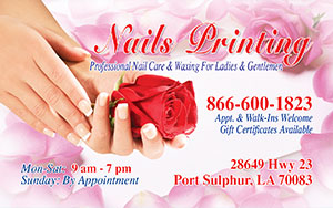 Nails printing 866 600 1823 we specializing in salon business business card front colourmoves